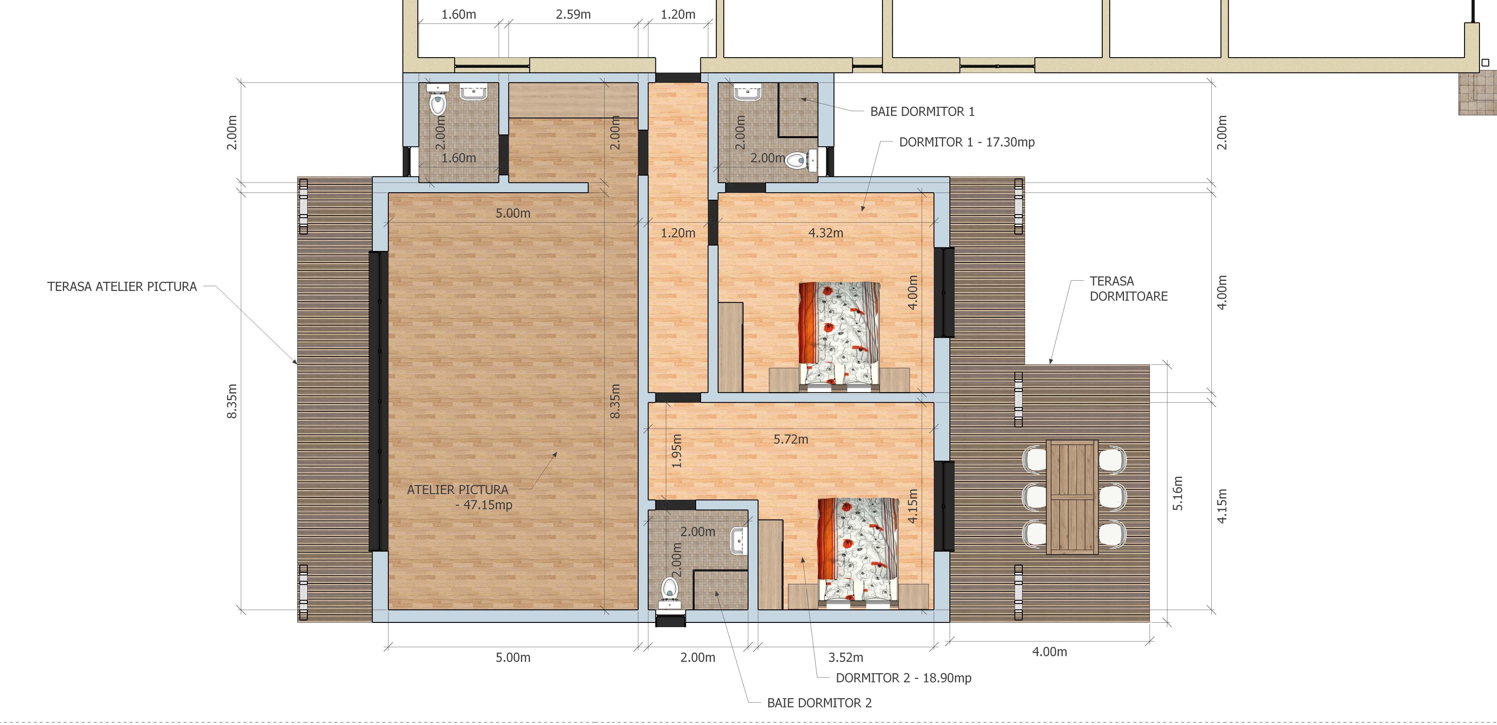 Proiectare case lemn- randare